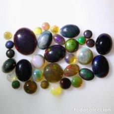 Coleccionismo de gemas: LOTE DE 33 OPAL WELO NATURAL, VIBRANTE JUEGO DE COLORES - 11 QUILATE. Lote 105583619