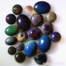 Coleccionismo de gemas: LOTE DE 19 OPAL WELO NATURAL, VIBRANTE JUEGO DE COLORES - 11 QUILATE. Lote 105583983