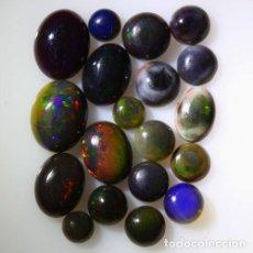 Coleccionismo de gemas: LOTE DE 19 OPAL WELO NATURAL, VIBRANTE JUEGO DE COLORES - 11 QUILATE. Lote 105584103