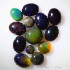 Coleccionismo de gemas: LOTE DE 13 OPAL WELO NATURAL, VIBRANTE JUEGO DE COLORES - 11 QUILATE. Lote 105584271