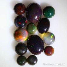 Coleccionismo de gemas: LOTE DE 13 OPAL WELO NATURAL, VIBRANTE JUEGO DE COLORES - 11 QUILATE. Lote 105584435