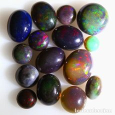 Coleccionismo de gemas: LOTE DE 14 OPAL WELO NATURAL, VIBRANTE JUEGO DE COLORES - 11 QUILATE. Lote 105585091