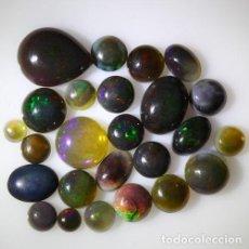 Coleccionismo de gemas: LOTE DE 25 OPAL WELO NATURAL, VIBRANTE JUEGO DE COLORES - 11 QUILATE. Lote 105585183