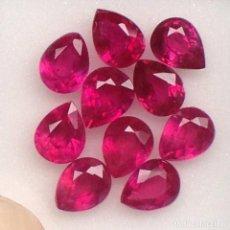Coleccionismo de gemas: RUBI PERA O LAGRIMA 8,0 X 6,0 MM. Lote 105600823