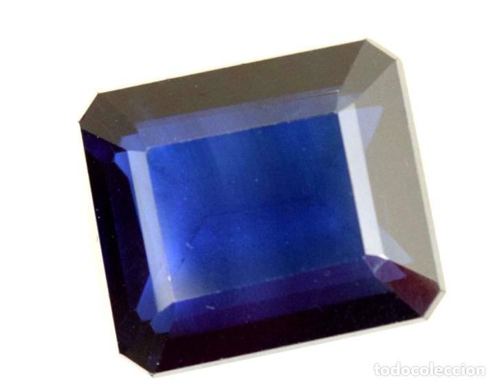 ZAFIRO RECTANGULAR 9,0 X 7,5 MM (Coleccionismo - Mineralogía - Gemas)