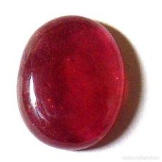 Coleccionismo de gemas: RUBI OVAL CABUJON 15,4 X 12,1 MM.. Lote 180496617