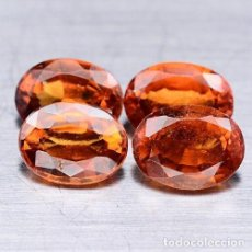 Coleccionismo de gemas: HESSONITA (GRANATE) OVAL 8,0 X 6,0 MM. Lote 129522260