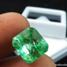 Coleccionismo de gemas: ESMERALDA VERDE DE 6,75 KILATES CON CERTIFICADO NGL - MEDIDA 1,1 X 1,0 CENTIMETROS - Nº40. Lote 113856083