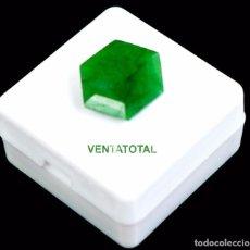 Coleccionismo de gemas: ESMERALDA COLOMBIANA DE 6,45 KILATES CON CERTIFICADO IGL -MEDIDA 1,4 X 1,2 CENTIMETROS - Nº51. Lote 113922775