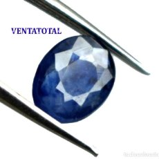 Coleccionismo de gemas: ZAFIRO AZUL DE 1,90 KILATES CON CERTIFICADO IGL - MEDIDA 0,8 X 0,6 CENTIMETROS - Nº20. Lote 171506587