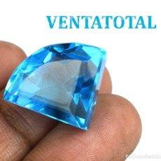 Collectionnisme de gemmes: TOPACIO AZUL - SWISS BLUE DE 27,20 KILATES CON CERTIFICADO IGL MEDIDA 1,8 X 1,6 CENTIMETROS - Nº7. Lote 114050771