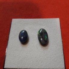 Coleccionismo de gemas: LOTE 2 ÓPALOS NEGROS DE 3 KILATES. Lote 114339067