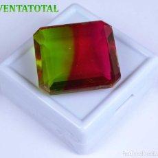 Coleccionismo de gemas: ALEJANDRITA BICOLOR -DE 57,30 KILATES -MIDE 2,7 X 2,4 CENTIMETROS- CON CERTIFICADO IGL - Nº5. Lote 115042579