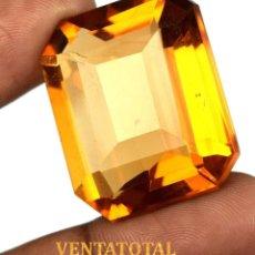 Coleccionismo de gemas: CITRINO AMARILLO - DE 78,80 KILATES -MIDE 3,0 X 2,5 CENTIMETROS- CON CERTIFICADO IGL - Nº2. Lote 115042827