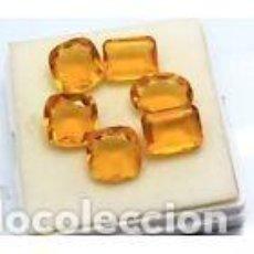 Coleccionismo de gemas: LOTE DE 6 CITRINOS 62.95.CT CON CERTIFICADO LABORATORIO EGL. Lote 115285247