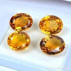 Coleccionismo de gemas: FANTASTICO LOTE DE 4 CITRINOS 55.70.CT CORTE OVAL . Lote 115288627