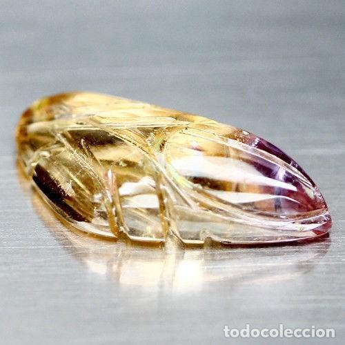 Coleccionismo de gemas: AMETRINA Talla Hoja - Foto 2 - 117450523