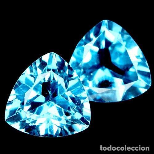 TOPACIO AZUL SUIZO 8,0 X 8,0 MM. (Coleccionismo - Mineralogía - Gemas)
