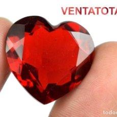 Coleccionismo de gemas: TOPACIO ROJO CORAZON DE 29,75 KILATES CERTIFICADO IGL MEDIDA 23X22X11 MILIMETROS = 2,5X2 CENTI-N1. Lote 118039071