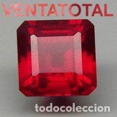 Coleccionismo de gemas: RUBI ROJO DE 3,20 KILATES CERTIFICADO IGL MEDIDA 8X8X3 MILIMETROS = 0,8X0,8 CENTI-Nº5. Lote 118041571