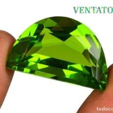 Coleccionismo de gemas: PERIDOT VERDE OLIVA DE 36,25 KILATES CERTIFICADO IGL MEDIDA 29X18X12 MILIMETROS = 2,9X1,8 CENTI-Nº7. Lote 118045299