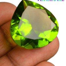 Coleccionismo de gemas: PERIDOT VERDE OLIVA DE 42,75 KILATES CERTIFICADO IGL MEDIDA 25X24X14 MILIMETROS = 2,5X2,4 CENTI-Nº4 . Lote 118046299
