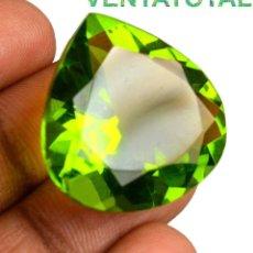Coleccionismo de gemas: PERIDOT VERDE OLIVA DE 44,40 KILATES CERTIFICADO IGL MEDIDA 26X26X14 MILIMETROS = 2,6X2,6 CENTI-Nº5. Lote 118046523
