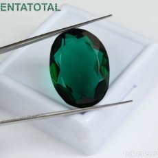 Coleccionismo de gemas: AMATISTA VERDE DE 28,15 KILATES MEDIDA 24X19X9 MILIMETROS = 2,4X1,9 CENTI-Nº1. Lote 118052131