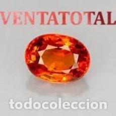 Coleccionismo de gemas: ZAFIRO NARANJA DE 4,95 KILATES CON CERTIFICADO IGL MEDIDA 11X8X5 MILIMETROS = 1,1X0,8 CENTI-Nº9. Lote 118114467