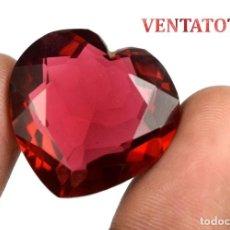 Coleccionismo de gemas: TOPACIO ROJO CORAZON DE 43,80 KILATES CON CERTIFICADO IGL MEDIDA 25X24X12 MILIME = 2,5X2,4 CENTI-N11. Lote 118115643