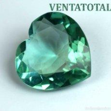 Coleccionismo de gemas: TOPACIO VERDE CORAZON DE 31,35 KILATES CON CERTIFICADO IGL MEDIDA 23X23X11 MILIM = 2,3X2,3 CENTI-N1. Lote 118115807
