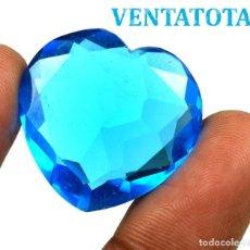 Coleccionismo de gemas: TOPACIO AZUL CORAZON DE 44,55 KILATES CON CERTIFICADO IGL MEDIDA 27X26X10 MILIM = 2,7X2,6 CENTI-N19. Lote 118115835