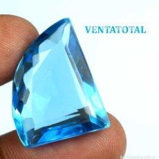 Coleccionismo de gemas: TOPACIO SWISS BLUE DE 27,75 KILATES CON CERTIFICADO IGL MEDIDA 23X14X11 MILIM = 2,3X1,4 CENTI-N21. Lote 118115943