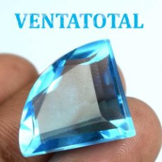 Coleccionismo de gemas: TOPACIO SWISS BLUE DE 25,85 KILATES CON CERTIFICADO IGL MEDIDA 25X18X9 MILIM = 2,5X1,8 CENTI-N17. Lote 118115963