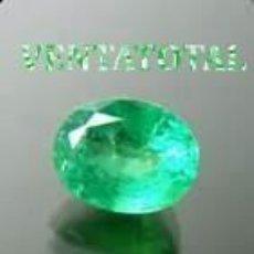 Coleccionismo de gemas: ESMERALDA DE 5,80 KILATES CON CERTIFICADO IGL MEDIDA 13X10X6 MILIM = 1,3X1,0 CENTI-Nº68. Lote 118116591