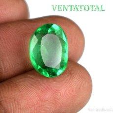 Coleccionismo de gemas: ESMERALDA DE 5,20 KILATES CON CERTIFICADO IGL MEDIDA 13X10X6 MILIM = 1,3X1,0 CENTI-Nº72. Lote 118116703