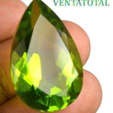 Coleccionismo de gemas: PERIDOT VERDE OLIVA DE 37,85 KILATES + CERTIFICADO IGL MEDIDA 29X18X13 MILIM = 2,9X1,8 CENTI-Nº14. Lote 118120159