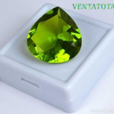 Coleccionismo de gemas: PERIDOT VERDE OLIVA DE 34,35 KILATES + CERTIFICADO IGL MEDIDA 24X23X12 MILIM = 2,4X2,3 CENTI-Nº13. Lote 118120475