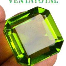 Coleccionismo de gemas: PERIDOT VERDE OLIVA DE 53,25 KILATES + CERTIFICADO IGL MEDIDA 21X21X14 MILIM = 2,1X2,1 CENTI-Nº10. Lote 118121163