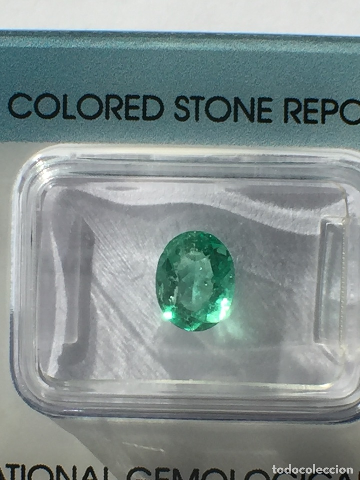 Coleccionismo de gemas: ESMERALDA COLOMBIANA -0.90 CT- IGI CERTIFICADO Y ENCAPSULADA - Foto 5 - 118209391