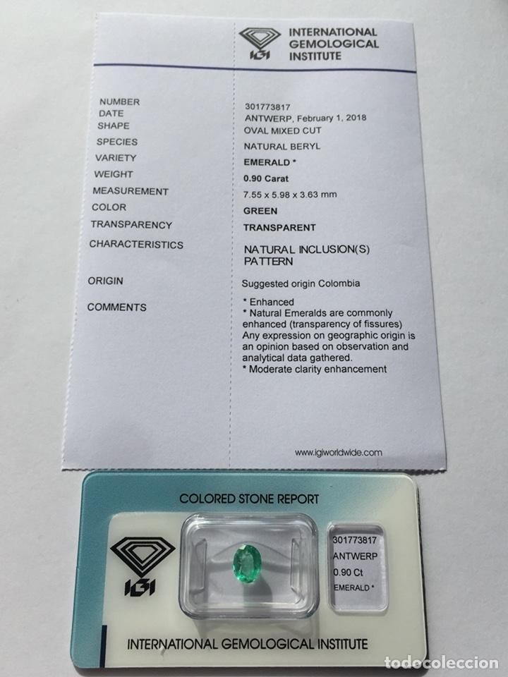Coleccionismo de gemas: ESMERALDA COLOMBIANA -0.90 CT- IGI CERTIFICADO Y ENCAPSULADA - Foto 4 - 118209391