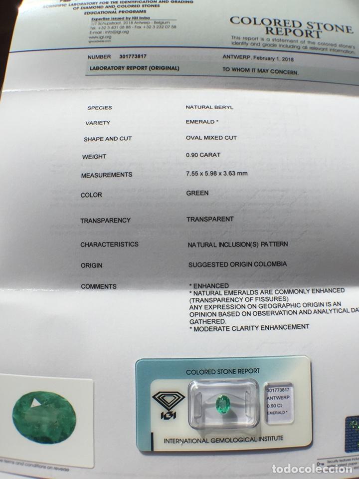 Coleccionismo de gemas: ESMERALDA COLOMBIANA -0.90 CT- IGI CERTIFICADO Y ENCAPSULADA - Foto 10 - 118209391