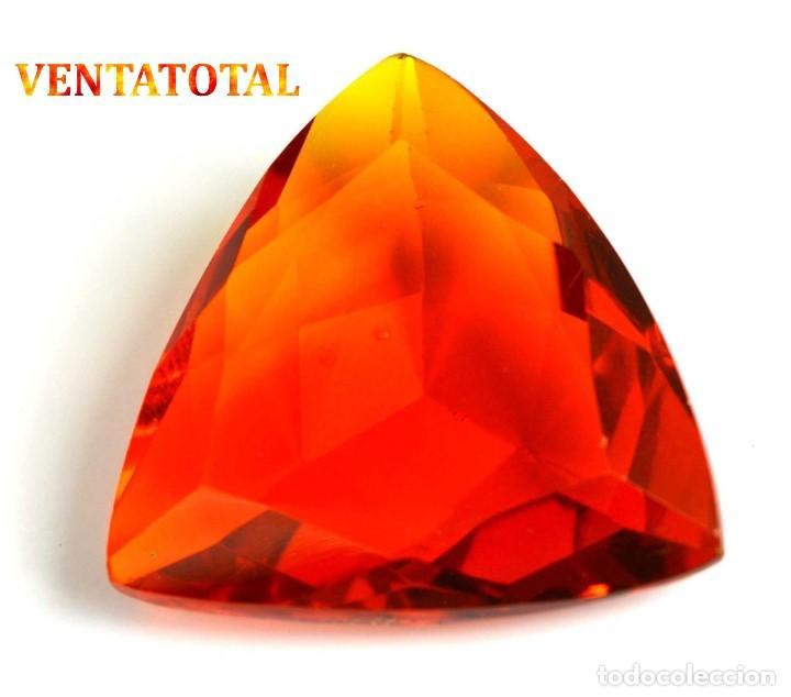 CITRINO TRILLON DE 47,25 KILATES CON CERTIFICADO IGL MEDIDA 29X28X10 MILIM = 2,9X2,8 CENTI-Nº12 (Coleccionismo - Mineralogía - Gemas)