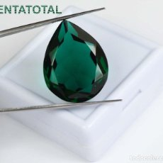 Coleccionismo de gemas: AMATISTA VERDE DE 28,25 KILATES MEDIDA 24X18X11 MILIMETROS = 2,4X1,8 CENTI-Nº11. Lote 118220663