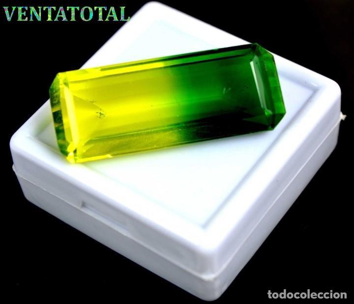 ALEJANDRITA BICOLOR DE 46,35 KILATES CON CERTIFICADO IGL MEDIDA 37X15X10 MILIME = 3,7X1,5 CENTI-Nº12 (Coleccionismo - Mineralogía - Gemas)