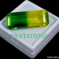 Coleccionismo de gemas: ALEJANDRITA BICOLOR DE 53,85 KILATES CON CERTIFICADO IGL MEDIDA 39X15X10 MILIME = 3,9X1,5 CENTI-Nº11. Lote 118258379