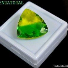 Coleccionismo de gemas: ALEJANDRITA BICOLOR DE 31,95 KILATES CON CERTIFICADO IGL MEDIDA 23X23X10 MILIME = 2,3X2,3 CENTI-Nº16. Lote 118262939