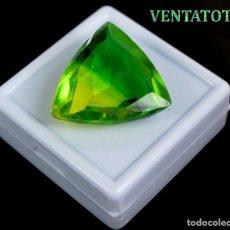 Coleccionismo de gemas: ALEJANDRITA BICOLOR DE 37,20 KILATES CON CERTIFICADO IGL MEDIDA 26X24X10 MILIME = 2,6X2,4 CENTI-Nº17. Lote 118264255