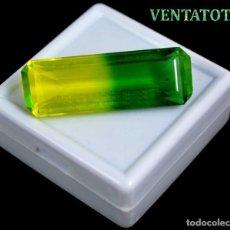 Coleccionismo de gemas: ALEJANDRITA BICOLOR DE 37,75 KILATES CON CERTIFICADO IGL MEDIDA 37X12X10 MILIME = 3,7X1,2 CENTI-Nº9. Lote 118264479
