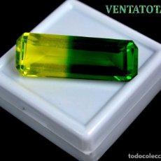 Coleccionismo de gemas: ALEJANDRITA BICOLOR DE 46,60 KILATES CON CERTIFICADO IGL MEDIDA 38X14X10 MILIME = 3,8X1,4 CENTI-Nº10. Lote 118264995